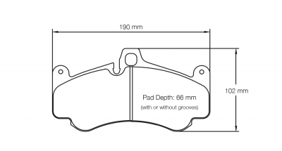 Pagid 2707 Pair of RSL29 Compound Brake Pad Shape
