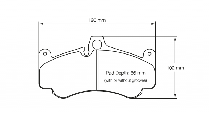 Pagid 2707 Pair of RSL29 Compound Brake Pad Shape