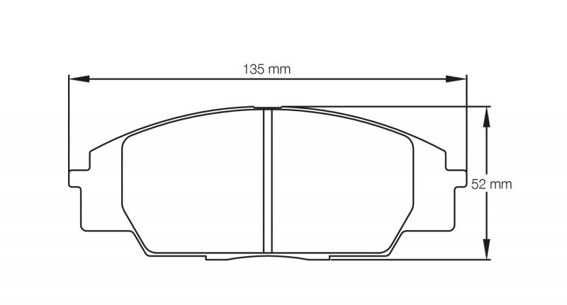 Pagid 8010 Pair of RSL29 Compound Brake Pad Shape