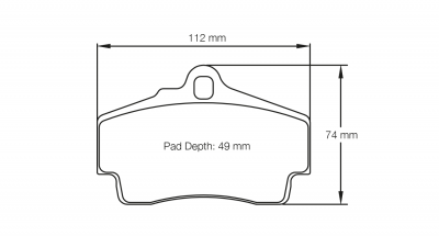 Pagid 2406 Pair of RSL29 Compound Brake Pads