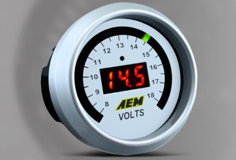 Aem Voltage Gauge - 0-18 Volts