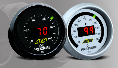 AEM Oil/Fuel Pressure Gauge - 0-100 PSI