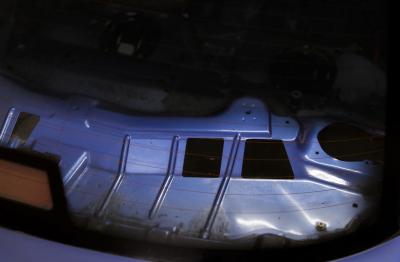 HARD Motorsport BMW E36 Coupe Rear Deck Panel Kit - Before