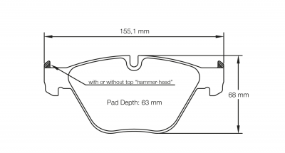 Pagid 8053 Pair of RST1 Compound Brake Pad