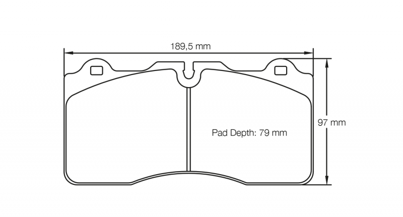 Pagid 4945 RSC1 Pair of Front Brake Pads for Nissan
