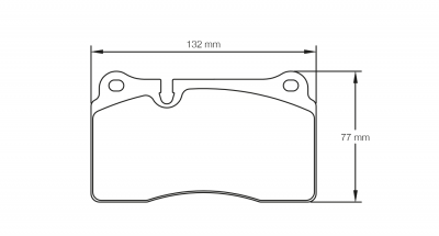 Pagid 4946 RSC1 Pair of Rear Brake Pads for Nissan