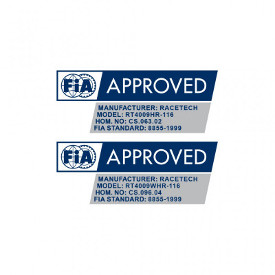 Racetech RT4009HR FIA 8855-1999 approved