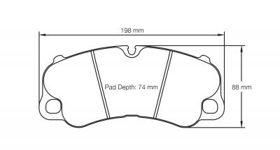 Pagid 4927 RSC3 Pair of Rear Brake Pads for Porsche