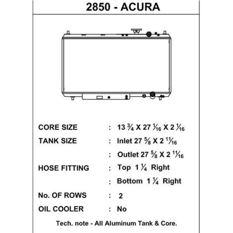 CSF Honda Acura radiator