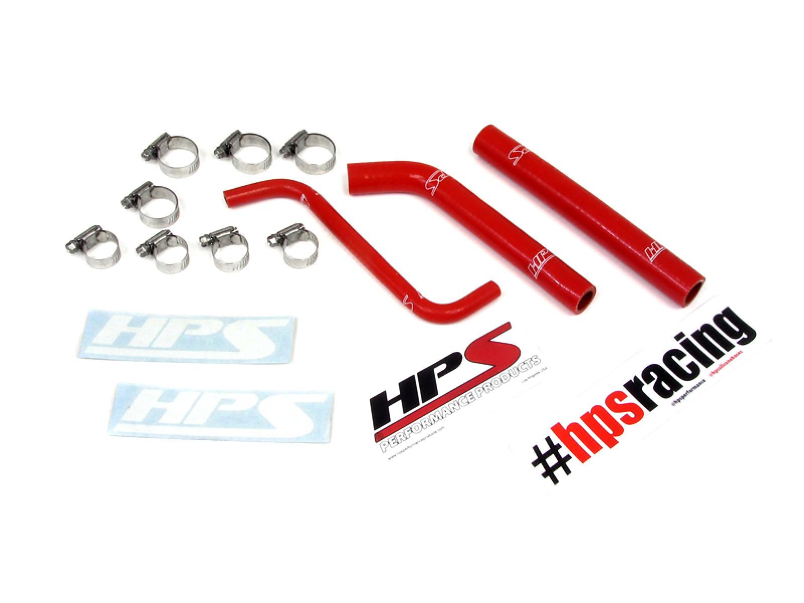 Honda 04-09 TRX450R HPS Red Reinforced Silicone Radiator Hose Kit