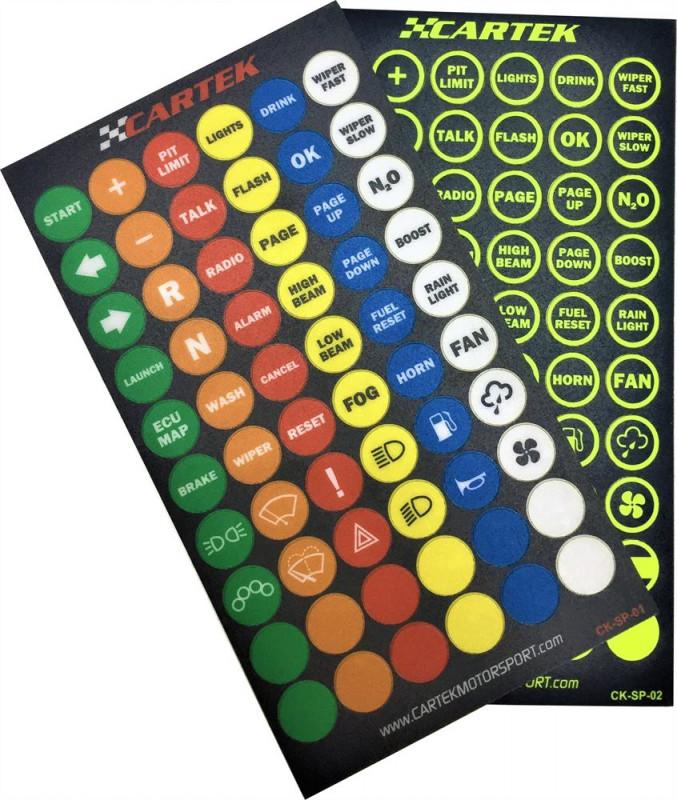 Cartek wireless controls button sheets