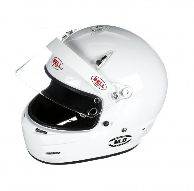 Bell M8 helmet white open
