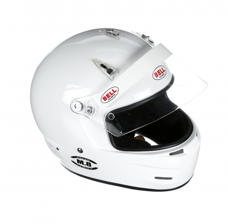 Bell M8 helmet white open right