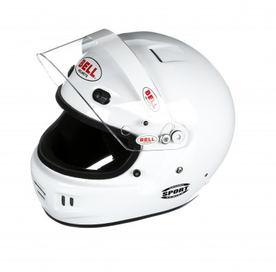 Bell Sport helmet white open left
