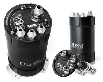Nuke Performance 2G fuel surge tank 3.0 liter inside