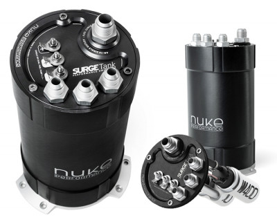 Nuke Performance 2G fuel surge tank 3.0 liter inside