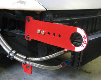 Rennline adjustable tow hook installed long