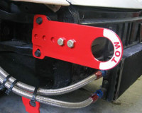 Rennline adjustable tow hook installed short