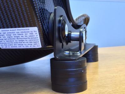Tillett EB2 B5 brackets mounted rear view