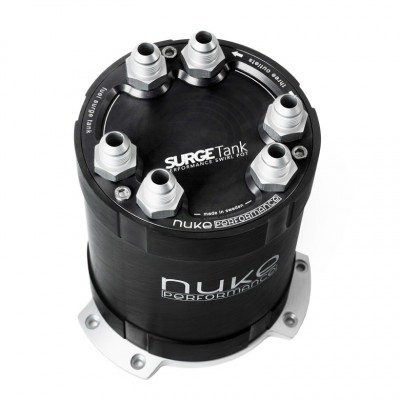 Nuke Performance 2G Fuel Surge Tank 2.0 Liter Up To 3 External Fuel Pumps