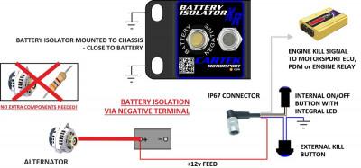 Cartek XR battery isolator install