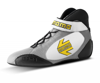 MOMO Gray/white GT Pro Racing Shoe
