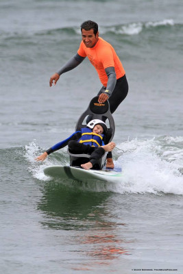 Tillett B4 on a surfboard