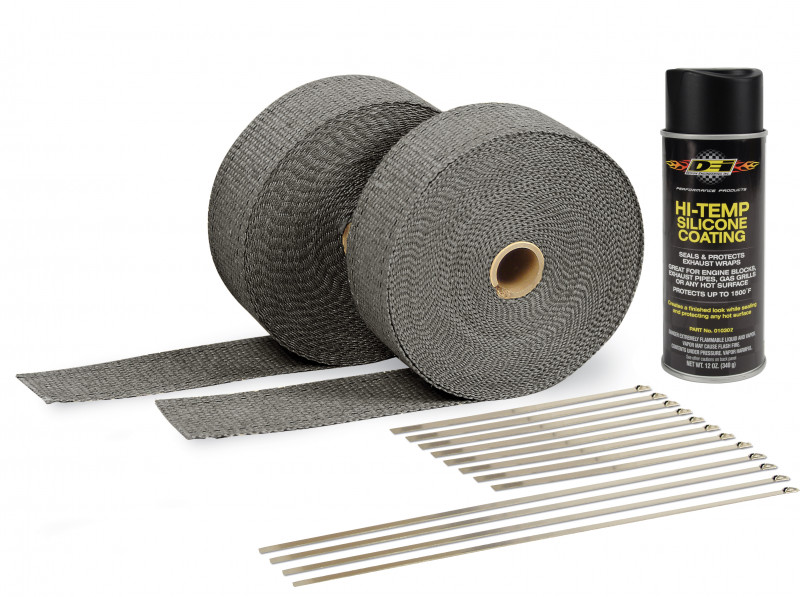 Black exhaust wrap kit