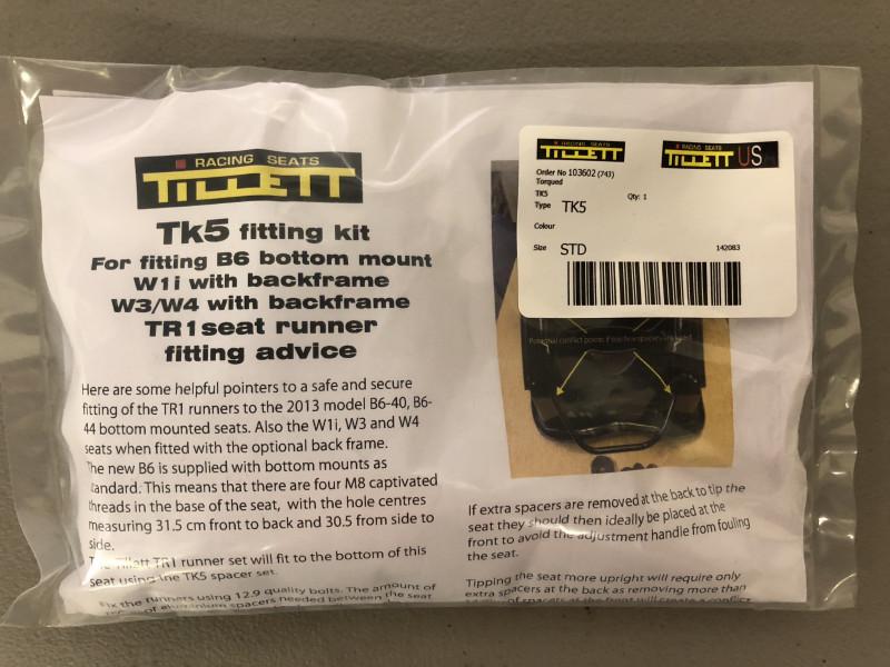 Tillett TK5 seat fitment kit
