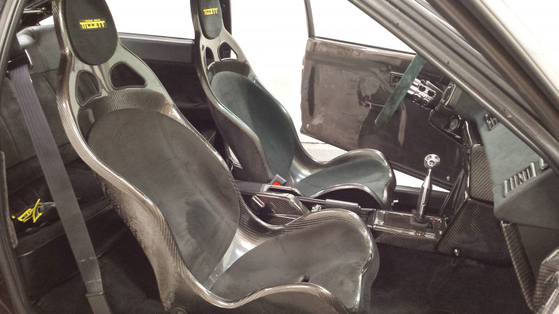 Tillett B1 seats in an AE86 Toyota Corolla