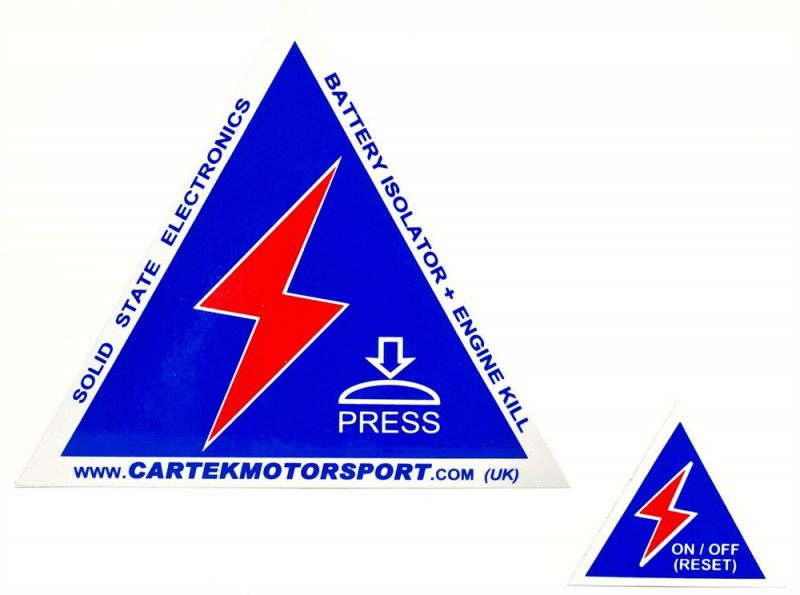 Cartek safety stickers