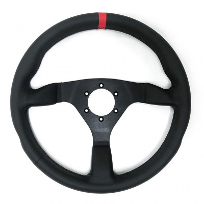 Racetech Flat Leather Steering Wheel