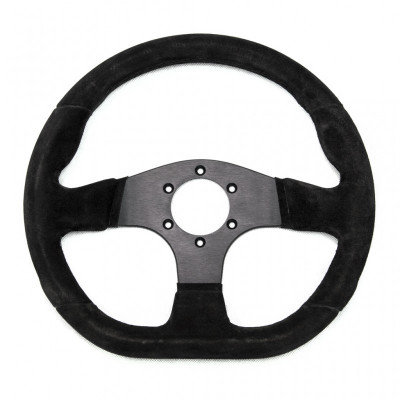 Racetech Flat Suede Steering Wheel with Flat Bottom