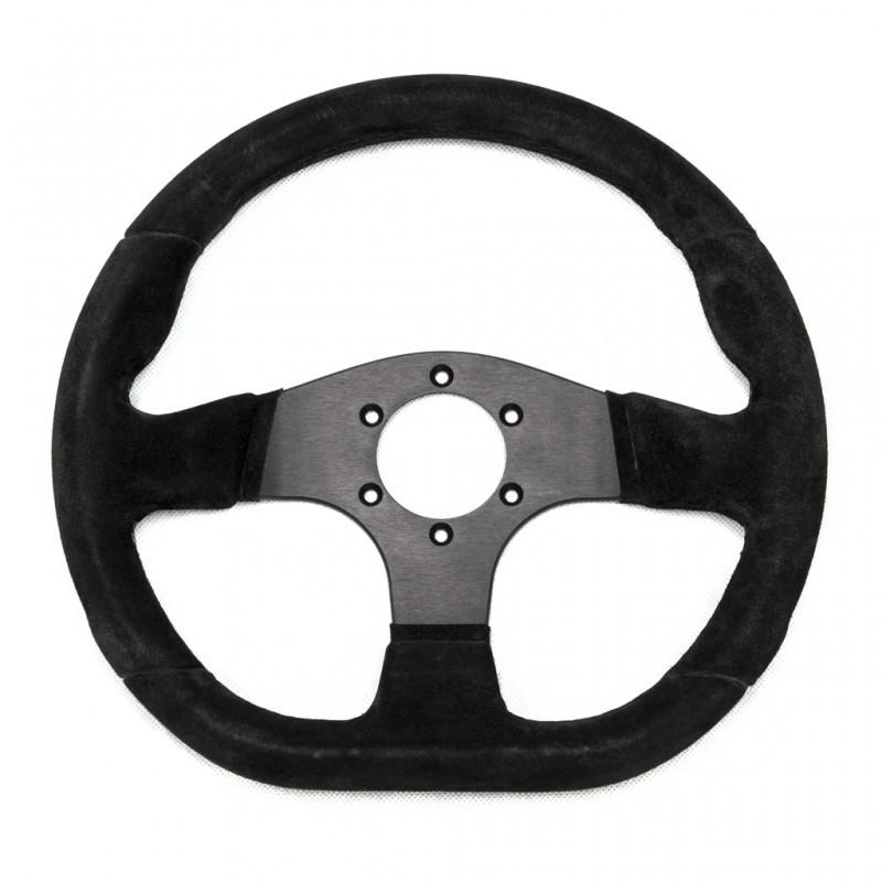Racetech Flat Suede with Flat Bottom Steering Wheel