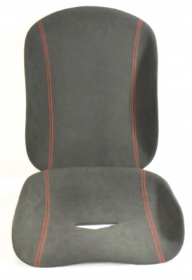 Tillett B1 Seat Pads 2-piece set red stitching