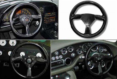 Reverie Eclipse 315 Carbon Fiber Steering Wheel - MOMO/Sparco/OMP Drilled, Untrimmed