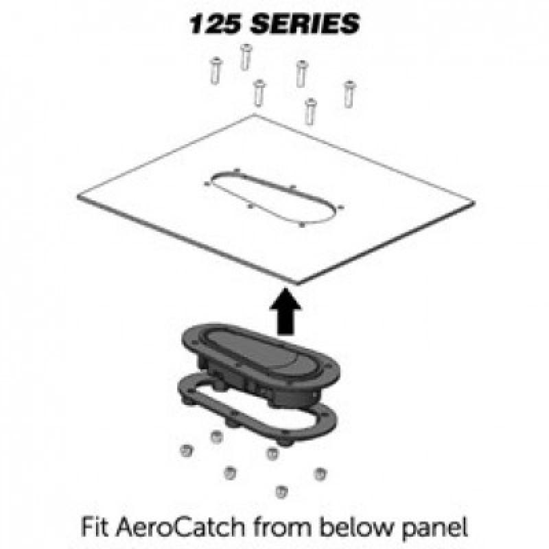 AeroCatch 125-3100 Series Carbon Fiber look Locking Latches