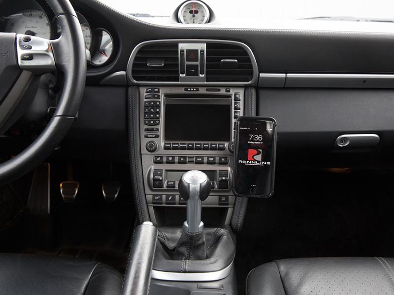 Rennline ExactFit Screw-in Magnetic Phone Mount for Porsche 997, 987