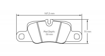 Pagid 4909 Pair of RSL29 Compound Brake Pad Shape