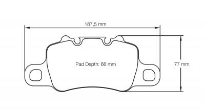 Pagid 4925 RSC2 Pair of Rear Brake Pads for Porsche