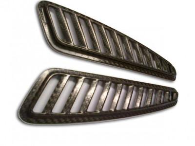 Reverie Universal Bonnet Vent Grilles - Carbon Fibre, Pair, L232mm x W56mm