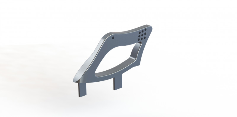 Reverie High Down-Force Carbon Fibre Rear Wing Adapter Kit
