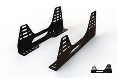 Reverie Universal 'L-Shaped' Seat Subframe Mounts - Pair, Satin Black Powder Coated, 3mm Steel