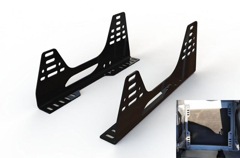 Reverie Universal 'L-Shaped' Seat Subframe Mounts - Pair, Satin Black Powder Coated, 3mm Steel