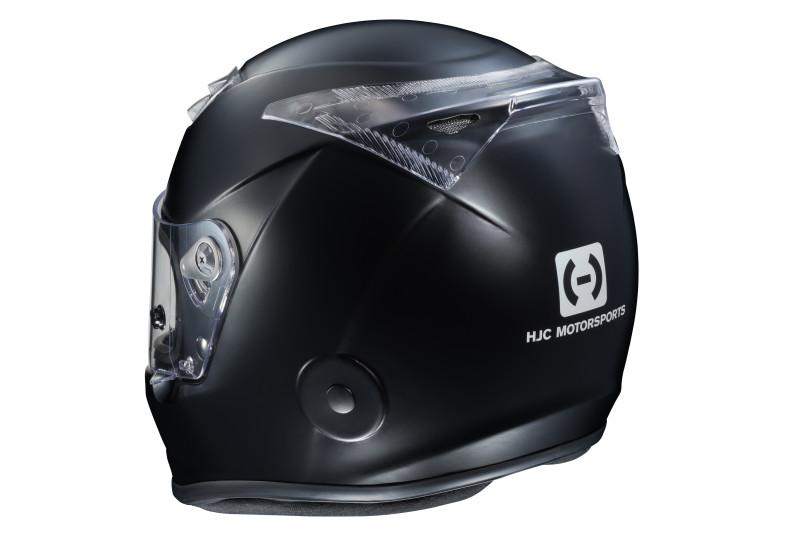 HJC H10 black spoiler installed